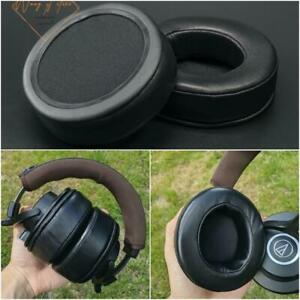 Sheepskin Leather Memory Foam Ear Pads For Audio-Technica ATH-M40x Headphone