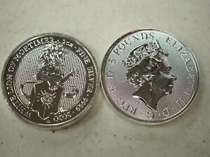 2020 Queen's Beast White Lion of Mortimer 2 oz Silver Coin