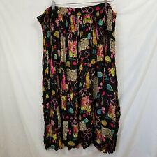546e9bdaa4 White Stag Womens Size 26w 28w Long Black Gauze Skirt Floral South Seas  Print