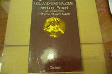 """LOU ANDREAS SALOME' """"ANAL UND SEXUAL- libro 1' edizione GUARALDI 1977"""" A1"""