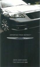 2013 Chrysler 200 User Guide plus Owners Manual DVD Operator Book Fuses