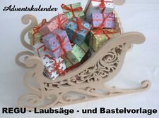 + ADVENTSKALENDER - Laubsäge / Bastel-Vorlage Nr.11B von REGU - Laubsägevorlagen