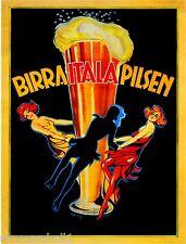 Birra Italia Pilsen Beer Wine Italy Vintage Advertisement Art Poster Print