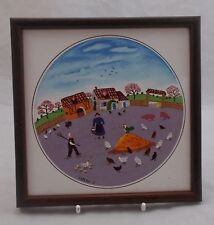 Villeroy & and Boch DESIGN NAIF LAPLAU framed tile -No3 Poultry Farm 16cm UNUSED