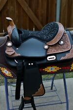 "15"" WESTERN LIGHT WEIGHT PLEASURE/TRAIL SYNTHETIC SADDLE-BLACK"