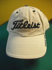 Titleist Hat Cap Beige Tan Adjustable Back Embroidered Logo