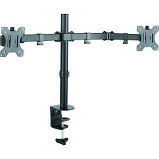Crest DUAL MONITOR DESK MOUNT Double Jointed Steel,Holds Up To 8Kg/Arm*AUS Brand