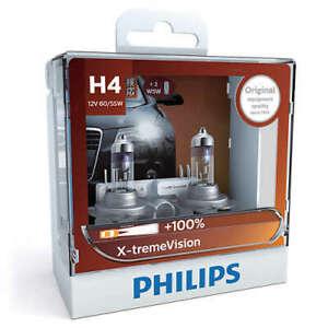 Philips 12342XVSM - X-treme Vision +100 H4 Globe 12V 60/55W (2Pk)