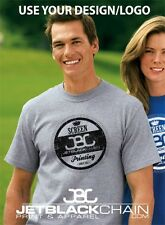 24 CUSTOM SCREEN PRINTED T-SHIRTS ANY COLOR T SHIRT 1 COLOR INK 2 LOCATIONS