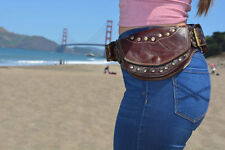 Leather Pocket Belt Bag / Utility belt / Black Friday sale