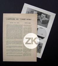 L'AGE D'OR Surréalisme BUNUEL DALI BRETON MAN RAY TANGUY ELUARD ARAGON Tract 30s