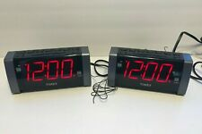 x2 TWO Timex T235Y Digital Tuner Dual Alarm Clock Radio Big Display MP3 Line-In