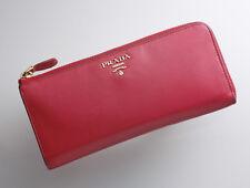 G8057M Authentic PRADA Saffiano Genuine Leather Zip L-Shape Long Wallet