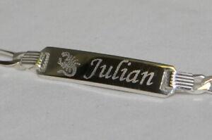 Babyarmband Taufarmband Kinderarmband  Silber 925 ,15cm inkl.Gravur