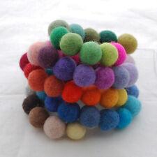 100% fieltro de lana Bolas - 1,5 Cm - 60 cuenta - 60 Colores