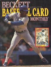 Ruben Sierra-Cover MLB Beckett Price Guide January 1990 Bret Saberhagen-On Back
