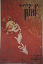 """""""Edith PIAF / DISQUES COLUMBIA""""Affiche originale entoilée DOUGLAS DAVIS 81x122cm"""