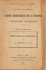 MINISTERE DES TRAVAUX PUBLICS_ CARTE GEOLOGIQUE DE LA FRANCE _BULLETIN_ geologia