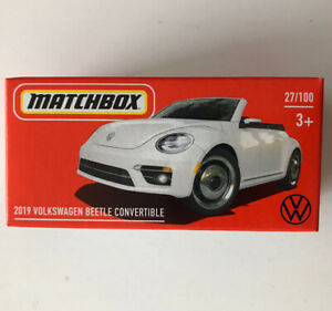 2021 MATCHBOX #27 - 2019 VW Beetle Convertible (White - Mix 5) 1x Power Grab