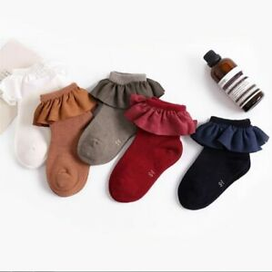 Kid Short Socks Lace Ruffles Knitted Infant Newborn Toddler Baby Girls