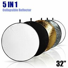 """5-in-1 Multi Photography Photo Disc Collapsible Studio Light Reflector 32""""/ 80cm"""
