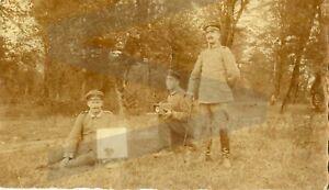 altes Foto 1. Weltkrieg seltsame Apparatur, 9x13cm
