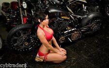 Custom Motorcycle Biker Girl Pin Up  Refrigerator / Toolbox Magnet Man Cave