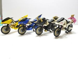 Power Rangers Wild Force Savage Cycle Motorcycles Lot of 4 w/ Accessories