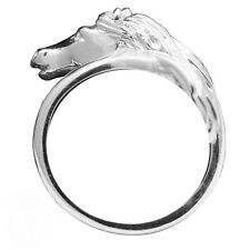Horse Head Equestrian Ring 9ct & 18ct Gold Fully UK Hallmarked
