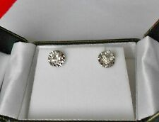 18ct w/gold diamond earrings 0.40ct