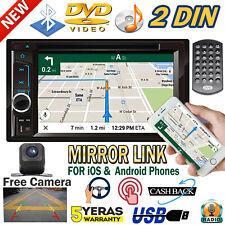 6.2 Inch 2DIN Car Stereo CD/DVD Player FM/AM RADIO Bluetooth BT USB AUX US NEW
