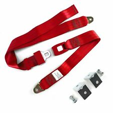 2pt Red Standard Buckle Lap Seat Belt with Mounting Hardware