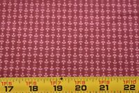 """34"""" Long, Dark-Pink on Rusty-Red Quilt Fabric/Marcus/Quilted Crow Girls, N3877"""