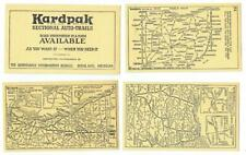 KARDPACK AUTO TRAILS ~ 1925 Pack of Ohio Road Map Cards