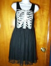 Hot Topic dress Rib Cage tulle black sleeveless NWT Size XL