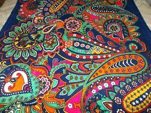 Vera Bradley Wild Bold Paisley Floral Hippie Soft Plush Throw Blanket 78 x 50