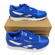 Reebok Mens US 7 UK 6 CL Nylon Color Crushed Cobalt Blue White Sneakers CN7447