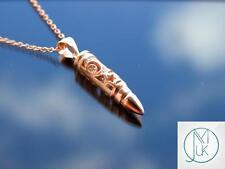 Bala de plata esterlina 925 Collar Colgante de Luna con Cubic Zirconia Oro Rosa