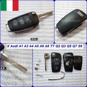 Chiave Cover Telecomando Guscio 3 Tasti X Audi A1 A3 A4 A6 A8 TT Q2 Q3 Q5 Q7 S6