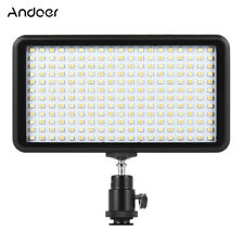 228 LED Video Light Lamp Panel Dimmable 20W 2000LM for Camera DV Camcorder Y1I0