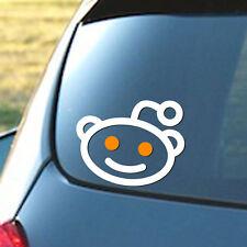 Reddit Alien Logo - Vinyl Sticker Decal Social Media Facebook Google