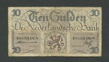 More details for netherlands  10 gulden  1945  krause 74  vg  banknotes