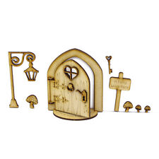 Opening Fairy Door-Laser Cut from 3mm MDF Lamp Post Pixie Elf Ready to decorate