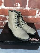 $295 New Gordon Rush - 12 D - Taupe Suede Dress Lace Cap Ankle Boots