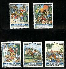 Germany Ethnic Communities Poster Stamps Native American Indian Chinese elephant