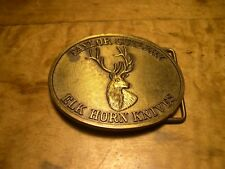 Taylor Cutlery Elk Horn Knives Limited Edition Metal Belt Buckle ONLY USED
