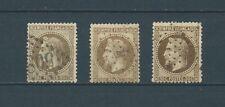 NAPOLÉON III LAURÉ - 1870 YT 30 - lot de 3 nuances