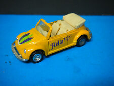 M.C. Toy Diecast 1:36 Yellow VW Volkswagen Beetle Cabriolet Replica Model Car