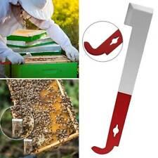 Stainless Steel Keeper J-Shape Hive Flat Tool Equip Beekeeping Hook Scraper
