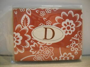 INITIAL D, 6 PIECE NOTECARDS W/ENVLOPES, AUTUMN FLORAL, ALL OCCASION, NEW